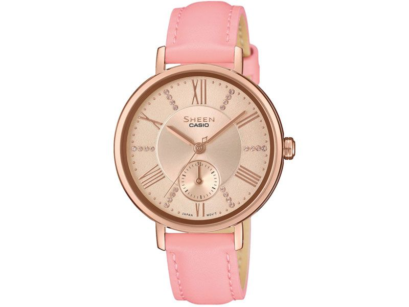 Zegarki Casio Timetrend Sheen do 1000 zł Sheen Casio Sheen Casio Sheen Eleganckie Casio SHE-3066PGL -4AUEF